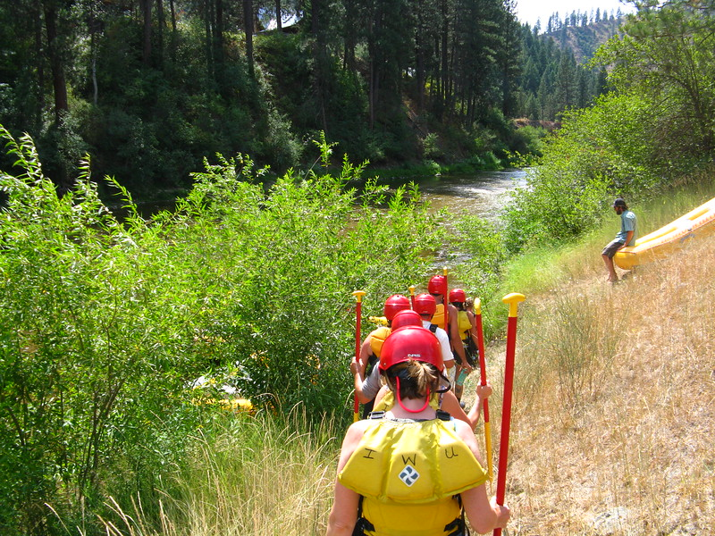 We head down to our rafts. I got put in a raft with only 4 people. We had 4 rafts and some had as many as 8 people.