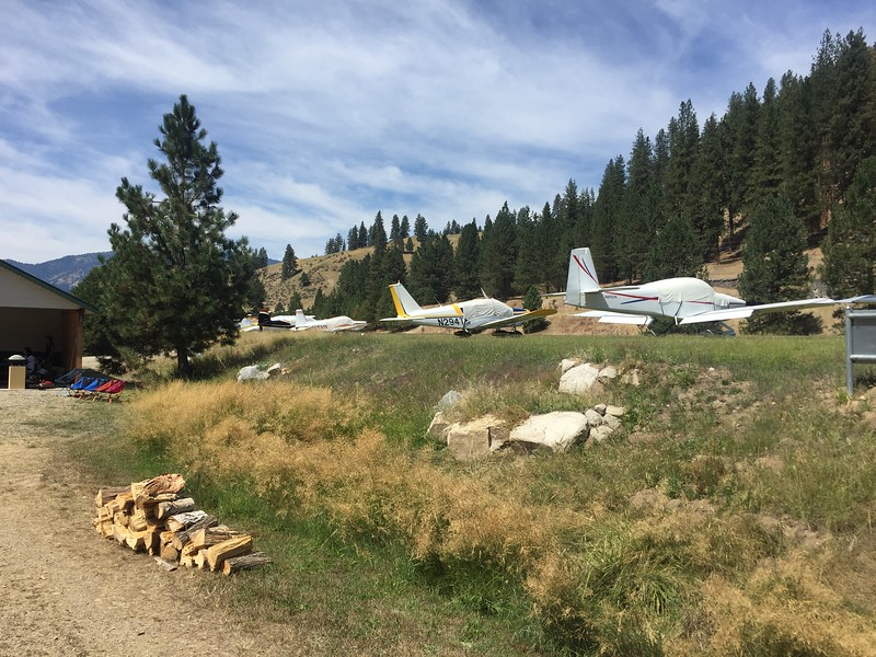 Free firewood and the landing strip parking was right next to the camp area.