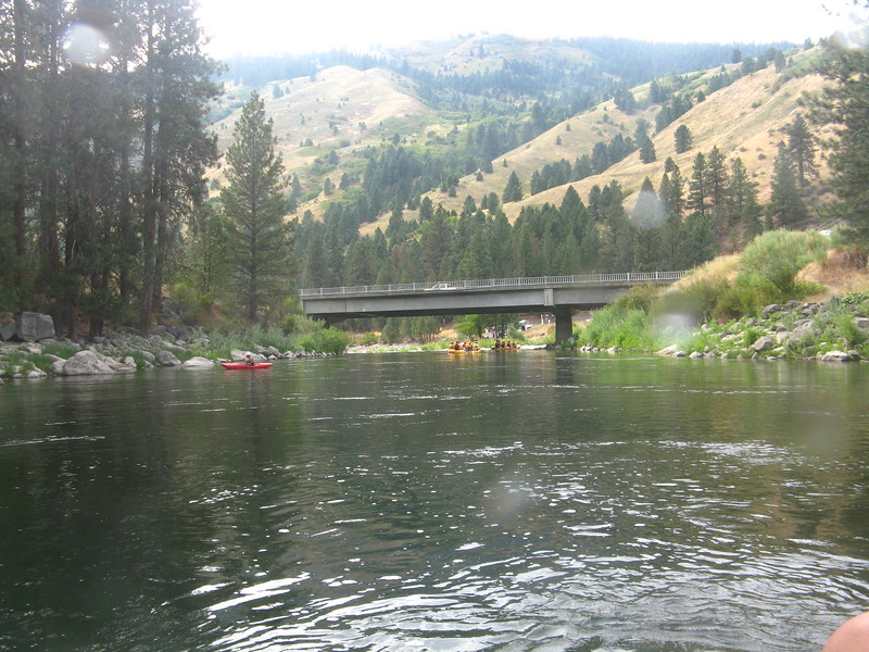 Nearing the end of the trip. We meet up with another fork of the Payette and then pull the rafts out and take a bus back.