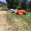 My light brown tent in the center.