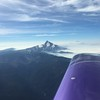 Mt. Jefferson as I get over the divide.
