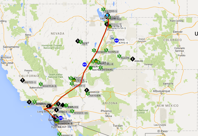 Tracks for the flight back with a stop in Corona for fuel, and Long Beach for lunch, then home to Ramona.
