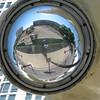 Selfie shot reflection from the astronaut helmet.
