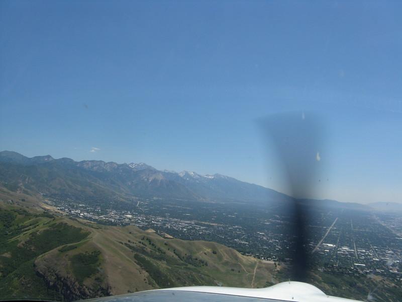 Univ. of Utah campus on the left side.
