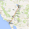 Our flight track back to Ramona from Bountiful.