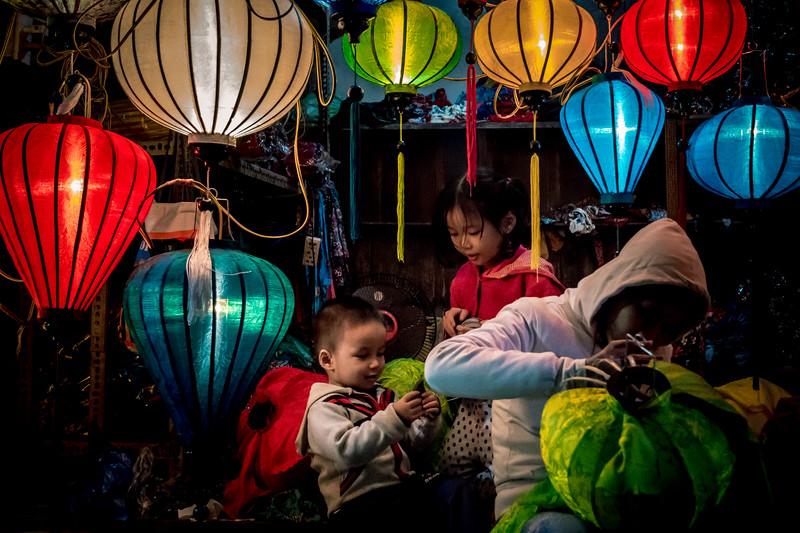 lantern maker and family