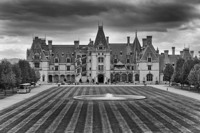The Biltmore House in Black & White