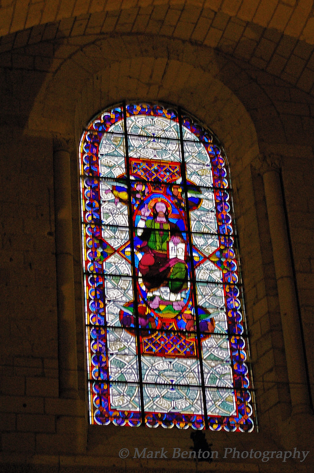 Entry Stained Glass Tomb Chapel Fontevraud Abbey
