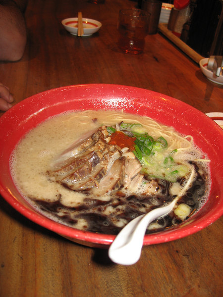 Ramen from Ippudo, near where I lived. I miss this more than anything else about Japan.