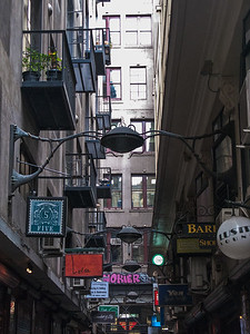 Melbourne's famous Degraves Street home to many café's and restaurants that spill out onto the street.