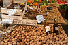 Seasonal walnuts, gourmet market, Sarlat, France.