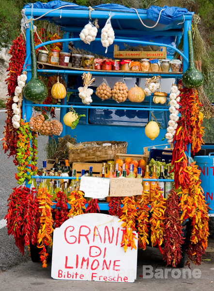 colorful roadside vendor's truck, Amalfi Coast, southern Italy