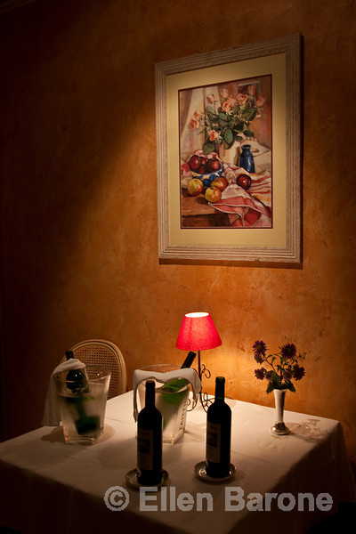 Dining table detail, Belle Etoile hotel, la Roque Gageac, France