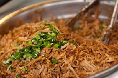 Stir fried noodles. Hong Kong street festival.