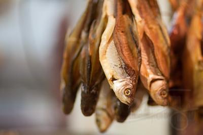 Dried fish. Kowloon city street market. Hong Kong.