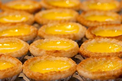 Egg tart. Hong Kong street festival.