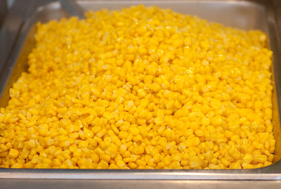 Steamed corn. Hong Kong street festival.