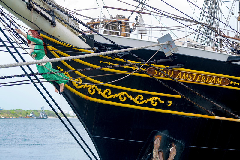 Stad Amsterdam's bowsprit carving