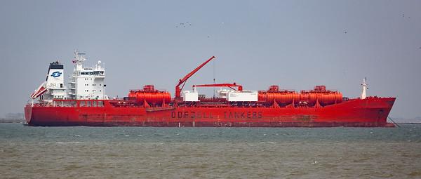 The Tanker Bowstar.  30,000 gross tons.