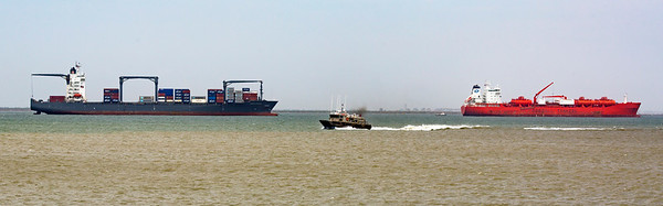 Freighter, workboat, and Tanker