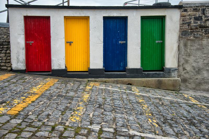 Locked doors Eniscrone harbor
