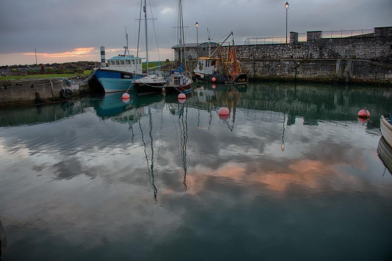 Sunrise Carnlough Harbor