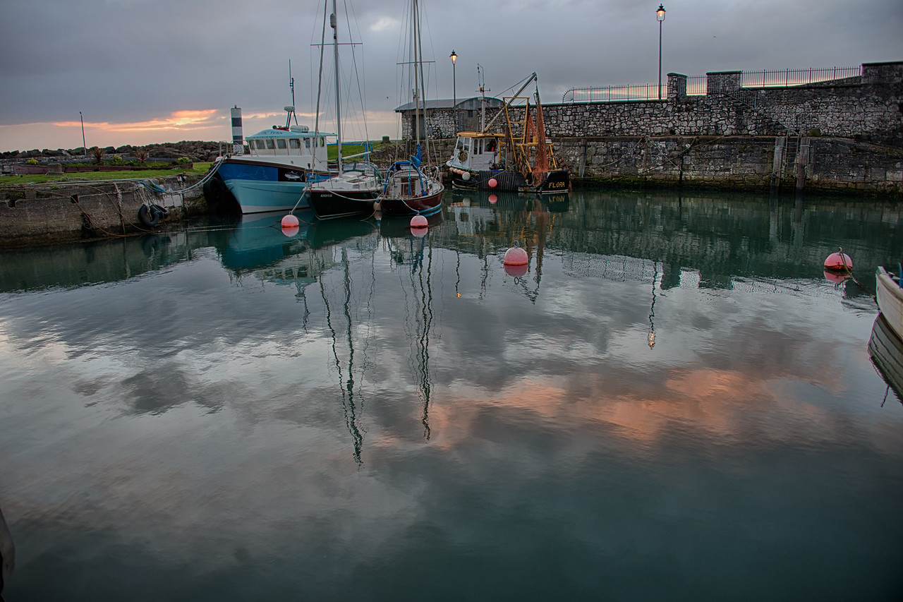 Sunrise Carnlough Harbor