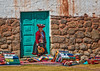 Woman and Blue Door Chinchero_ (17)