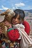 Young girls and Llama Sacsyhuayman_ (1)