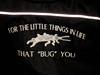 Bill Lefebvre, owner of A! Terminator slogan on back of jacket
