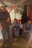Mould removal workers in rest area in crawlspace of JBGH Attawapiskat