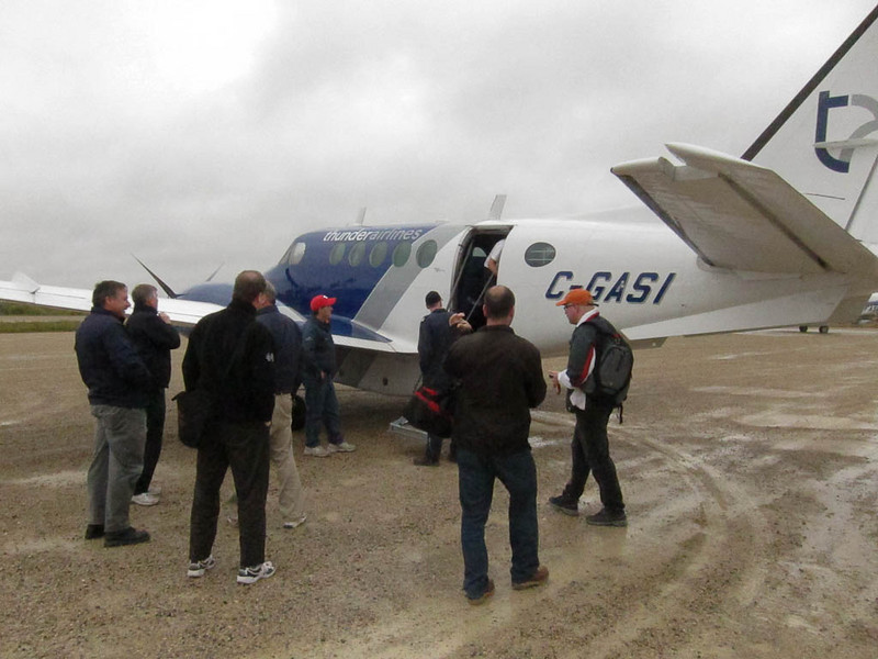 Arrival in Fort Albany