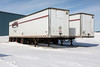 Storage trailers in Fort Albany.