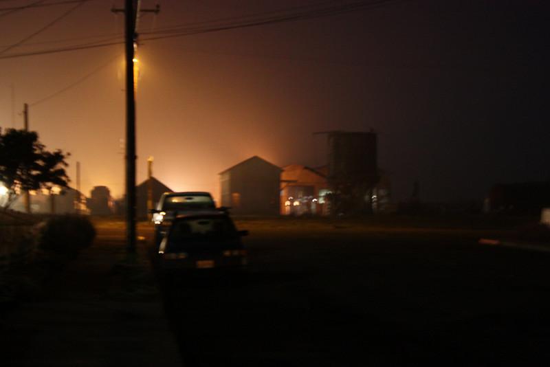 Ft. Bragg railyards at night