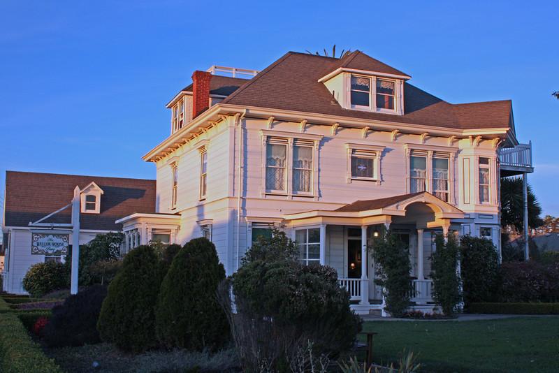 Weller House at sunset