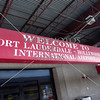Welcome sign at the International airport in Fort Lauderdale, Florida.