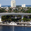 A bridge and view at Port Everglades in Fort Lauderdale, Florida.