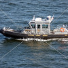 Broward County Sheriff patrol boat in Fort Lauderdale, Florida.