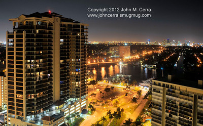 This is Fort Lauderdale at night, 7/1/2012 from the balcony of our room on the 19th floor of Marriot's BeachPlace Towers.