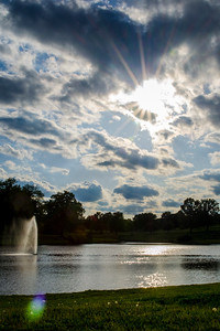 Sunbeams over Pond (c) 2012, Karin Markert, kmarkert88@gmail.com, all rights reserved.