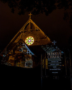 Memorial Chapel at Night (c) 2012, Karin Markert, kmarkert88@gmail.com, all rights reserved.