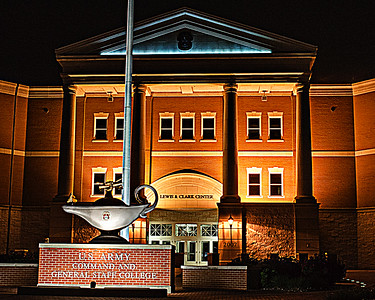 Lewis and Clark Building at Night (c) 2012, Karin Markert, kmarkert88@gmail.com, all rights reserved.