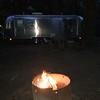 Rocinante and campfire