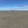 Panorama of beach at Fort Stevens State Park