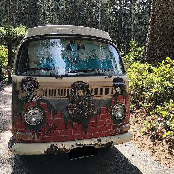 Outrageous VW van @ Ft Stevens SP