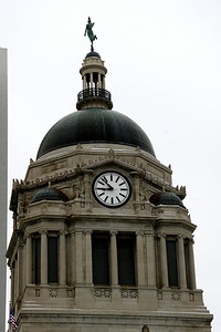 Clock tower on Allen County Courthouse