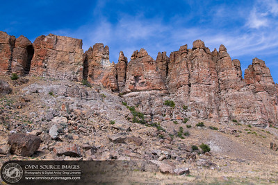 The Palisades - Shaniko-Fossil Highway 218 - Near Fossil, Oregon