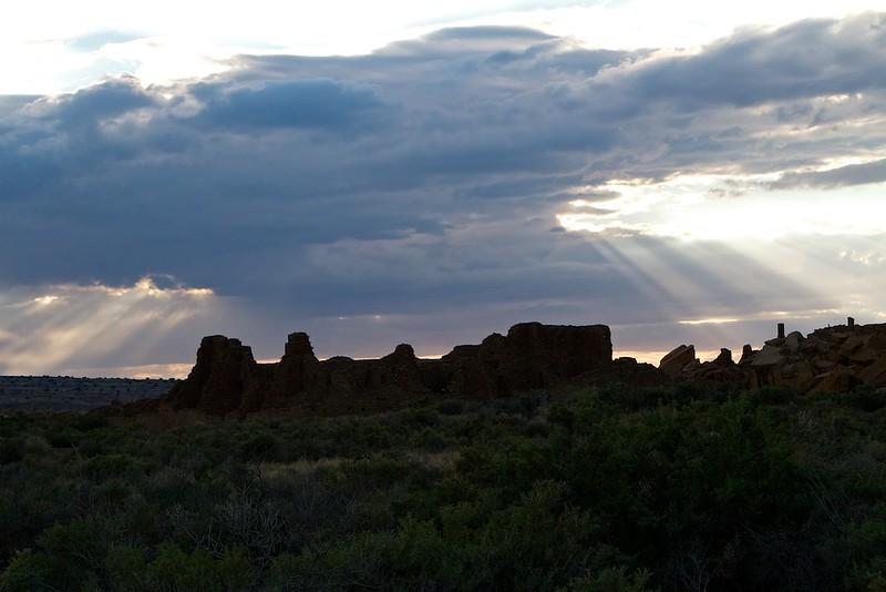 Sunset over Pueblo Bonito