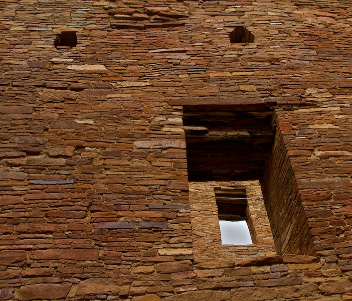 Second story doorways - Chaco Canyon