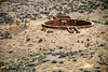 Kiva at Casa Riconanda seen from the south mesa in Chaco Canyon